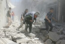 AFP / Ameer Alhalbi Shelling and air raids in Aleppo over the past week have killed more than 230 civilians and pushed a landmark February 27 ceasefire to the verge of collapse