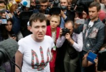 AFP / Anatolii Stepanov Ukrainian pilot Nadiya Savchenko, freed from jail in Russia as part of a prisoner exchange, arrives at Kiev's Boryspil airport on May 25, 2016