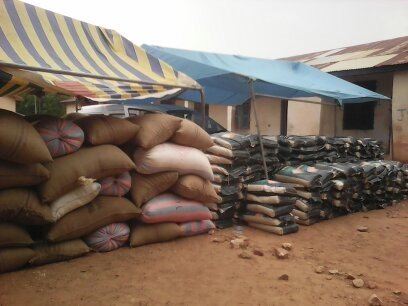 Some of the food stuff for the widows