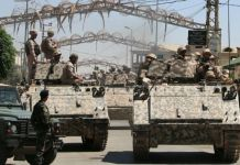 Lebanese soldiers raided a Syrian refugee camp outside the village of Qaa