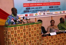 Vice President Paa Kwesi Amissah- Arthur opens the Ghana/ China Trade Investment summit in Accra