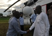 Vice President Amissah-Arthur being introduced by Mr Ali Kasim, DCE for West Gonja to some party executives in the area.