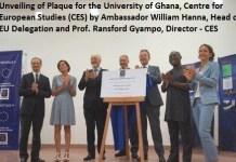 Unveiling of Plague for Legon Centre for European Studies