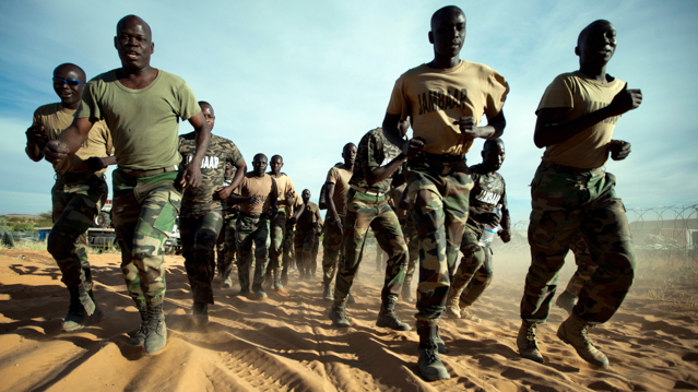 420 troops from Senegal are posted in Um Baro where they assume the responsibility of the security of the area. Photo by Albert Gonzalez Farran - UNAMID