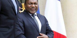 Mozambican President Nyusi in France