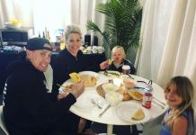 Carey Hart, Pink and kids (c) Instagram