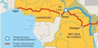 Proposed Transaqua Navigable Canal to Refurbish Lake Chad in blue