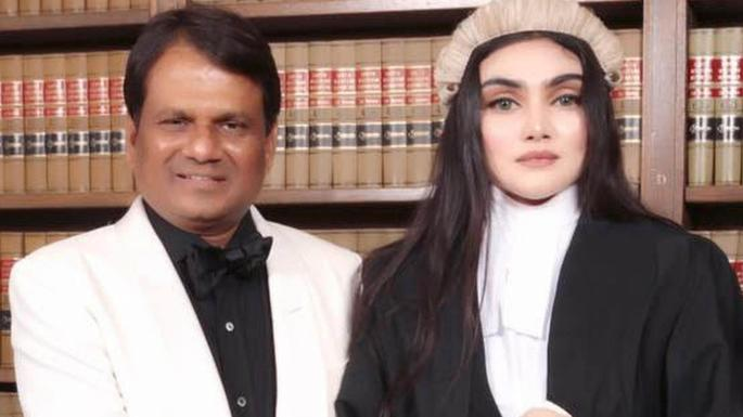 Shahid Uddin Khan With His Barrister Daughter