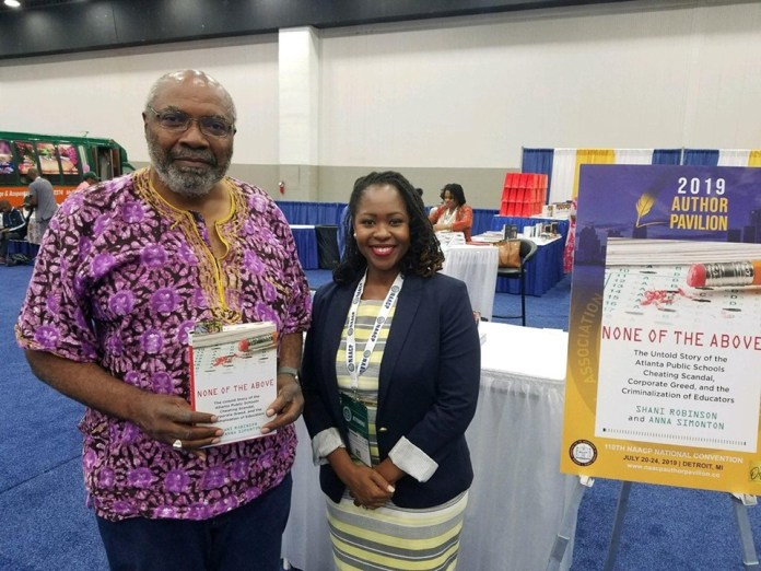 Abayomi Azikiwe and Author Shani Robinson at the National NAACP Convention held in Detroit during late July 2019.