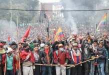 Ecuador protest against IMF imposed austerity measures, Oct. 2019