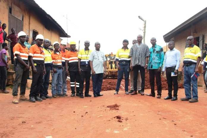 Newmont Goldcorp Ghana - Ahafo mine partners with stakeholders to construct 4km town roads for 5 south host mine communities