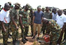 Army Staff leads tree planting exercise