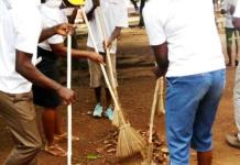 NABCO personnel clean up Lawra streets