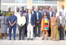 Some of the beneficiaries with Mr Chai Zhijing, the Economic and Commercial Counsellor of the Chinese Embassy in Accra
