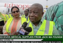 medical supplies from Jack Ma Foundation