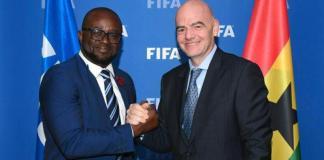 Kurt Okraku And Gianni Infantino Fifa