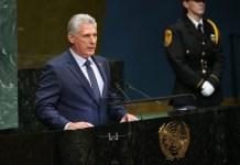 Cuban President Miguel Diaz Canel