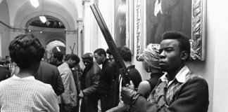 Black Panther Members Protest Gun Control At The California State Capitol On May