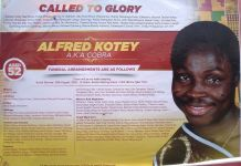 Late Former WBO Champion ALFRED KOTEY To Be Buried
