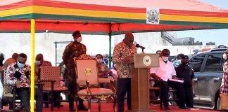 President Cuts Sod For E M Elmina Fishing Port
