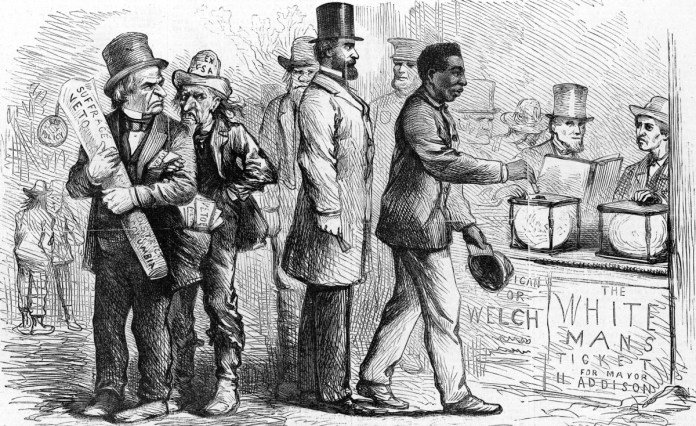 African American Voting During Reconstruction History Com Graphic