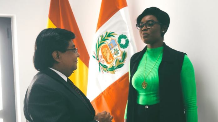 Araba Sey Meets Ambassador Of Peru