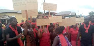 Demonstration over Illegal Mining