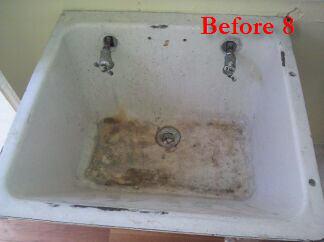 kitchen sink refinishing porcelain wine decor sets laundry room rrefinishing & reglazing
