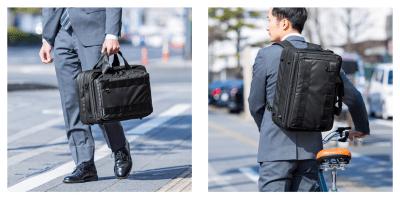 耐水生地・耐水ファスナー仕様で雨も安心な3WAYビジネスバッグが凄い