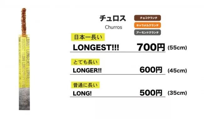 『LONG! LONGER!! LONGEST!!!』のチュロス