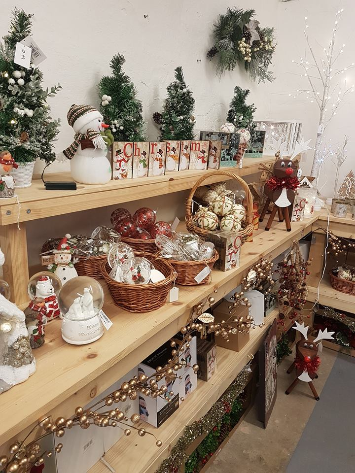 Decorations displayed in the shop