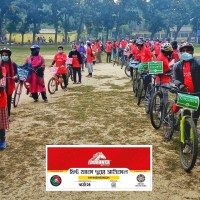 Bicycle rally held in Mymensingh to raise awareness against Corona