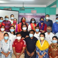 Training on preparation of sanitary pads and improvement of youth friendly health services held in Rangamati