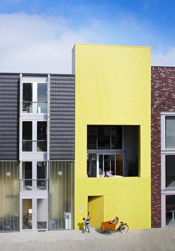 Home Design Ideas Use Bright Yellow Tiles That Clearly Sets The