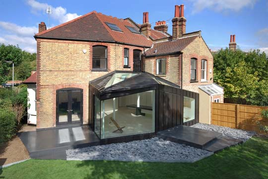 Home Extensions project in London inspired by the existing geometry of the House and Garden