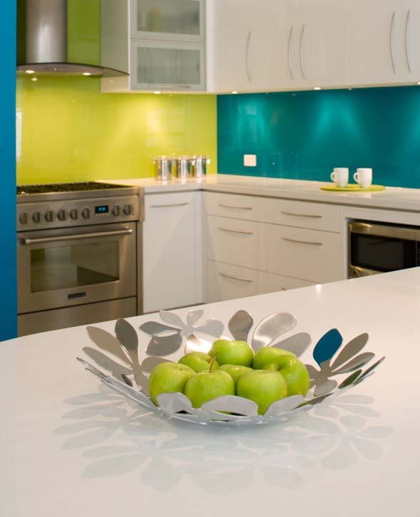 Modern Kitchen Ideas with bright colorful design for Beach House by Kim Duffin