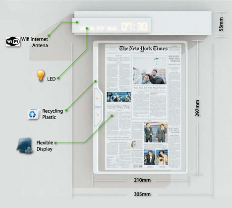 Digital Newspaper Concept