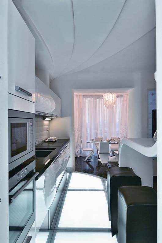 Cozy Futuristic Apartment Interior In Kiev Ukraine