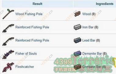 泰拉瑞亞釣魚竿怎么做 手機版釣魚竿制作方法_4399泰拉瑞亞