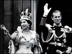 Queen Elizabeth II and her husband the Duke of Edinburgh