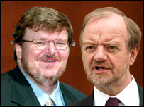 Michael Moore and Robin Cook