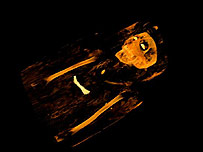 A 3,000-year-old Egyptian mummy in the British Museum