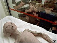 Modèle au Musée international de UFO Centre de recherche et à Roswell, Nouveau-Mexique