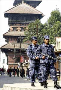 Security forces in Kathmandu