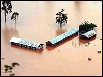 Inundación en Kenia.