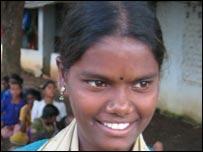 Durgamma, a former child labourer, studied till grade three