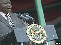 Kenyan President Mwai Kibaki