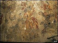 Detalle de mural maya