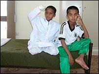 Niños en el campo de rehabilitación