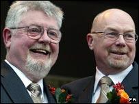 Malcom Macourt (left) and Rev Christopher Wardale